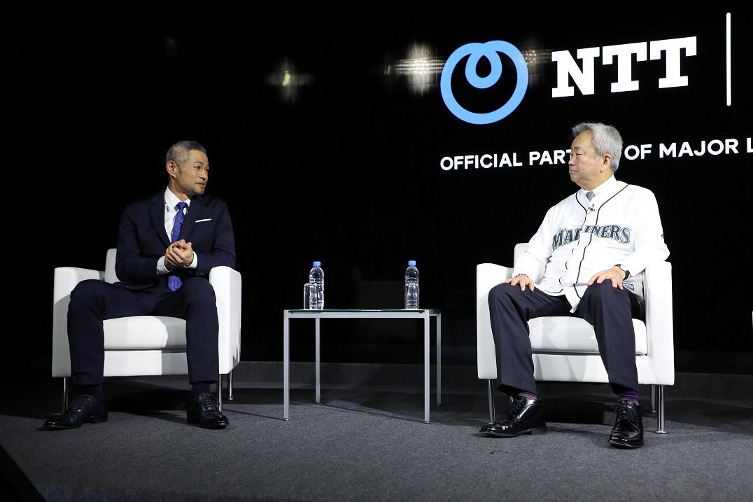 イチローさんが明かす引退試合とメジャー挑戦の裏側~NTTの研究開発イベントで澤田社長と対談~